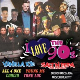 90s concert erie pa